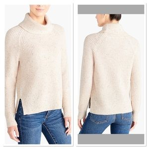 J. Crew Classic Chic Donegal Turtleneck Sweater.